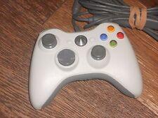 Microsoft Xbox 360 Blanco Wired Controller en vgwc + Free UK Post