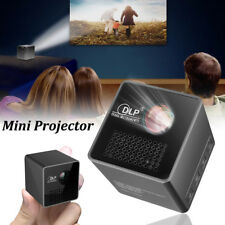 Mini Home Theater Projector Cube LED Portable Wireless WiFi DLP Multimedia Video
