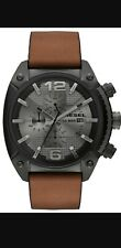 Diesel Mens Watches  Overflow Black IP Chronograph Watch DZ4317New PRP £199