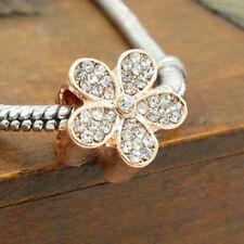 1pcs gold KC flower European Charm Beads Fit 925 Necklace Bracelet  DIY B124
