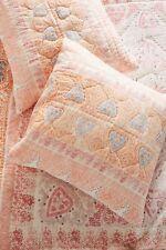 NWT $58 Anthropologie Josee Euro Sham pillow 26x26 Coral