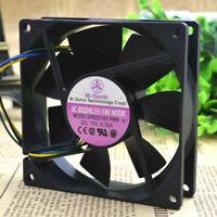 Case Fan 92mm x 92mm x 15mm 12V 0.40A 50 CFM 3800 RPM 3-Pin Bulk Lot of 90 New