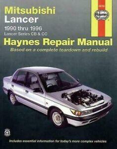 HAYNES Mitsubishi Lancer CB & CC 1990-1996 Workshop Repair Manual