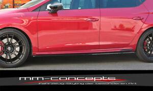 CUP Seitenschweller Ansätze SCHWARZ für Seat Leon MK3 Cupra FR FL Side Skirts V1