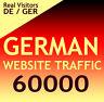 60000 deutsche Website Aurufe Besucher Organic target german web traffic DE/GER