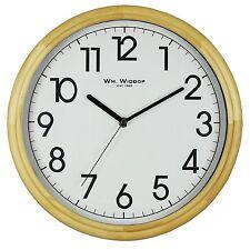 Widdop Wall Clock Silent Large Classic Traditional Quartz Bold Light Wood W7803