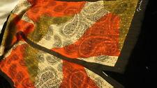 "Giordani singed paisley long scarf 10"" X 53"" kerchief S152"
