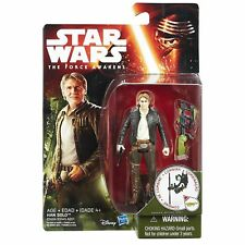 "Star Wars The Force Awakens Action Figure 3.75"" Han Solo Free Postage"