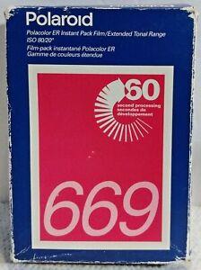 Polaroid 669 Instant Polacolor ER Film 2 Pack 16 Photos exp 04/97 Factory Sealed