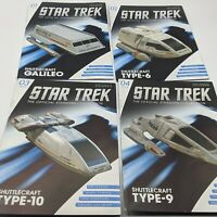 Lot of 4 Eaglemoss Star Trek MAGAZINE ONLY SHUTTLECRAFT SET 1 Books NO SHUTTLE