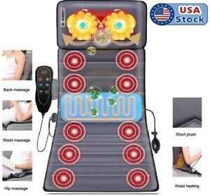 Full Body Electric Massage Mat 12 Vibration Motor 2 Heating Pad Massage Mattress