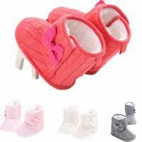 né bébé berceau chaussures de bébé bowknot des bottes chaudes prewalker d'hiver