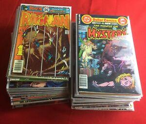 Huge Lot of 51 Bronze Age 1970's DC Comic Books Horror Batman Superman Keys