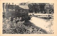 Durham New Hampshire~Oyster River~Old Mill and Dam~1949 Postcard