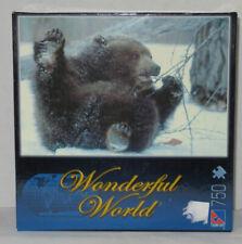 Sure Lox 750 Piece Pieces Puzzle WONDERFUL WORLD JUVENILE GRIZZLY bear