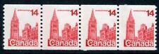 CANADA 1978 14 C Rouge, bobine bande de 4. déplacée phosphore, un bar Tag erreur neuf sans charnière