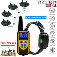 Waterproof Dog Shock Collar With Remote Electric for Large 875 Yard Pet Training