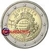 2 Euro Commémorative Slovénie 2012 - 10 Ans de l'Euro TYE