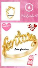 RARE & Collectible Disney Couture TINKERBELL Fantasy Gold Plated Ring Size 6