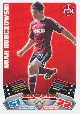NOAH KORCZOWSKI # DEUTSCHLAND FC.NURNBERG CARD MATCH ATTAX BUNDESLIGA 2013