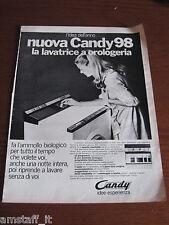 *7=CANDY 98 LAVATRICE=1970=PUBBLICITA'=ADVERTISING=WERBUNG=PUBLICITE=
