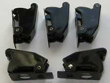 "5 X Toggle Switch Safety Cover - BLACK - Use with 1/2"" Full Size Toggle Switches"