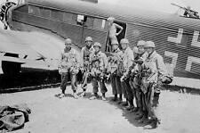 WWII Photo Fallschirmjäger Troops (German Paras)  WW2 World War Two Germany