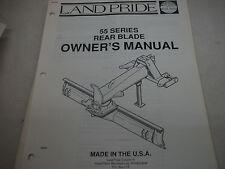 Land Pride Owners Parts Manual 55 Series Rear Blade