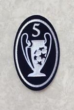 UCL UEFA Champions League Dark Blue Trophy 5 Cup Patch Badge Parche Toppa