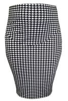 PRINTED DOGTOOTH PENCIL SKIRT FOR PREGNANCY
