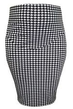 PENCIL SKIRT FOR PREGNANCY DOGTOOTH PRINTED FABRIC