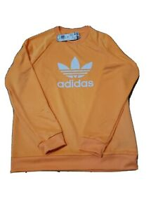 adidas ORIGINALS MEN'S TREFOIL SWEATSHIRT ORANGE