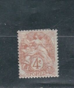 """FRANCE TIMBRE N° Y & T 110 """" type blanc """" Neuf* charniere port maxi 1 euro"""