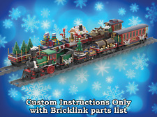 LEGO Winter Village Train SIX BONUS CARS - INSTRUCTIONS ONLY for 10254 Christmas