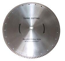 Turbo Diamond Cutting Blade 14 4500 Rpm Maximum 80 Ms 14 X 34mm X 8mm X