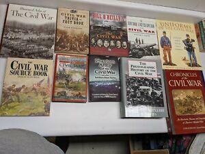 Lot of 10 Civil War Books Hardcover & Paperback Histories