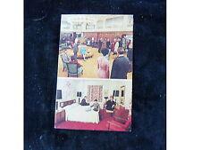 HOTEL ABBEY VICTORIA NEW YORK, NY POSTCARD LOBBY AND ROOM INTERIOR