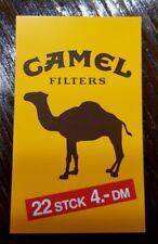Werbung Steck Karte Zigaretten Automaten GROSS NEU Camel Filters 22 Stück 4,- DM
