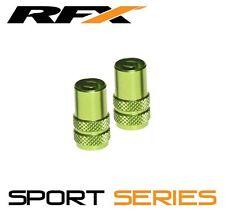 RFX Sport Serie Tapas De La Válvula & clave de Válvula 2 un. Verde Kawasaki KXF250 KXF450
