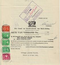 1942 South Africa Mortgage Bond.Fine Used KGV1 Revenues.