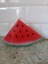 Watermelon Shaped Candle Wedge Green Stripes Wax Decorative Candle Red