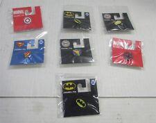 pins Lot of 7 Marvel & Dc Comics Enamel
