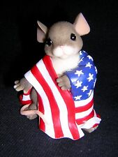 Charming Tails Wrapped With Pride 2002 New Patriotic Flag Never Displayed