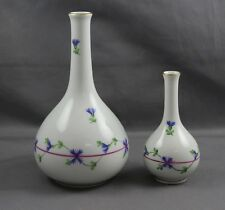 Herend China Blue Garland Mini Bud Vase Set of Two PBG
