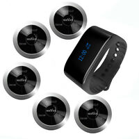 SINGCALL Wireless Calling Pager System, 1 Waterproof Watch and 5 Pagers APE330S