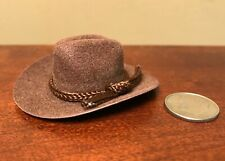 Brown COWBOY HAT for SOME 1:9 & Other Scale Dolls SEE HEAD-OPENING MEASUREMENTS!