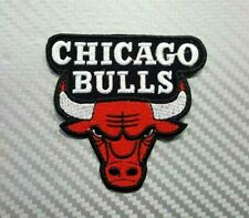 NBA Chicago Bulls SPORTS TEAM BADGE CAP JACKET EMBROIDERED LOGO Patch Iron Sew