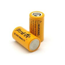 2 PCS 1200mAh 3.7V Li-ion Rechargeable 18350 Lithium Battery Flat Bottom UK FAST