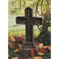 Vampire Grave Marker Halloween Prop Cemetery Cross Spooky Decor New