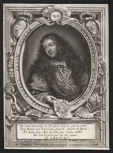 Pierre-Paul Sevin painter peintre Maler Portrait gravure engraving 1688